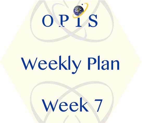Weekly Plan for Week7