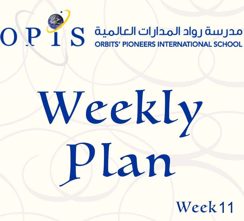 Weekly Plan Week 11 Grades 1 to 9