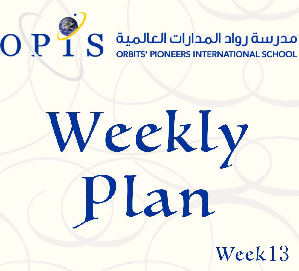 Weekly Plan Week 13 Grades 1 to 9